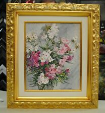 "Ethel M. Mallinson, ""Still Life with Flowers"" 1930, 22x25, Original Watercolor"