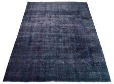Colored Vintage 354 x 254 cm, moderner Handgeknüpfter Orientteppich Perser Blau