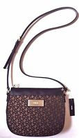 $178 DKNY HERITAGE SAFFIANO PVC MESSENGER T& C CROSS BODY BAG HANDBAG BLACK SIGN