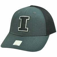 NCAA Twill  Two Tone Adjustable Hat Cap Illinois Fighting Illini Charcoal