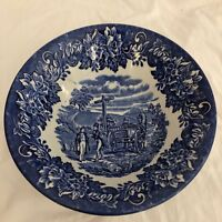 Vintage Dickens Series English Ironstone ~Made In English~Cobalt Blue&White Bowl