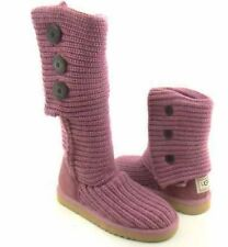 UGG CARDY PURL KNIT BUTTON CREAM BEIGE CLASSIC TALL SHORT BOOTS SIZE 8 WOMENS   eBay