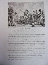 RAMPON Chef de Brigade 1796