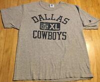 Vintage 90s STARTER Dallas Cowboys shirt L gray jersey NFL football rayon blend