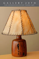 """RARE & EPIC! ALEXANDRE NOLL ARTS & CRAFTS ROSEWOOD """"WORM"""" LAMP! VTG ONE OFF"""