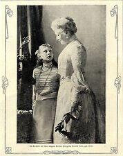 Die deutsche Kaiserin mit ihrer einzigen Tochter 1906