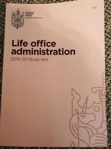 FA1 - Life office administration - 2019-2020 Study Text