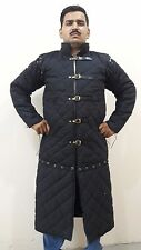 Gambeson Medieval Padded Armour Cotton Black ~ Full Sleeve ~ Royal Armor costume