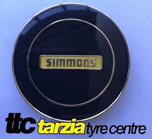 Simmons New GENUINE Centre Cap Black with Gold Inlay 1 x Cap FR1 OM C V51