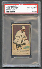 1920 W516-1 Tris Speaker #5 PSA Authentic Hand Cut HOF Cleveland Indians
