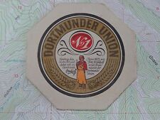 Old Beer Coaster ~ BRINKHOFF'S Dortmunder Union No. 1 Pils ~ GERMANY Since 1873