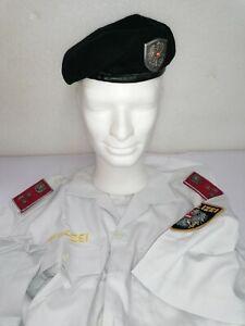 Polizei Österreich Barett und Sommer Hemd weiß Gruppeninspektor Austrian Police