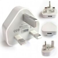 USB Plug 3 Pin UK Travel Plug Adapter Charger Wall Socket USB Port for Phones