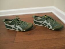 Used Worn Sz 9 Asics Onitsuka Tiger Mexico 66 Leather Shoes Green & Light Blue