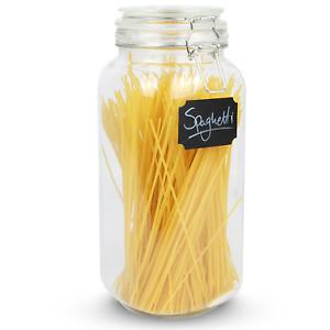 2.2L Spaghetti Clip Top Jar Airtight Storage Round Glass Tall Container M&W