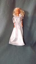 "Barter 12"" Blonde Hair Vinyl Doll in White Lace Dress"