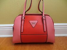 NWT Guess Darcie Color-Blocked Purse Handbag Satchel CORAL MULTI