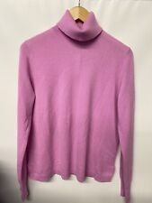 NWT J Crew Everyday cashmere turtleneck sweater Large J6600 Pink