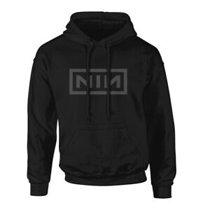 NINE INCH NAILS NIN CLASSIC GREY LOGO HOODIE 100% OFFICIAL NEW
