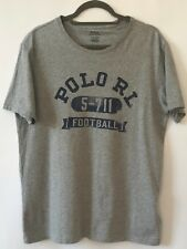 "Ralph Lauren Classic Custom T Shirts 2 Designs ""ath Dept"" or ""football"" Grey"
