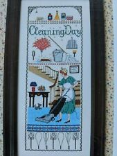"""""""Cleaning Day"""" Counted Cross Stitch Pattern"""