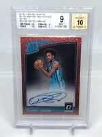 Devonte Graham 2018-19 DONRUSS OPTIC RATED ROOKIE CHOICE RED AUTO BGS 9 Mint