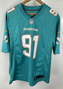 NFL Miami Dolphins Jersey Shirt Medium M Cameron WAKE 91 Nike American Football