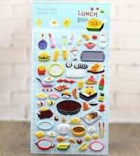 Korea Design Lunch Box Bubble Stickers for Diary Children Kids Reward Toy Gift