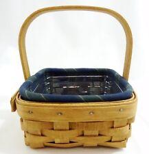 Longaberger 2004 Tarragon Booking Basket Combo with Membership Stripe Liner