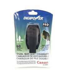 NEW DigiPower Canon TC-2000C Dual Battery Charger Use with Digital SLR Cameras