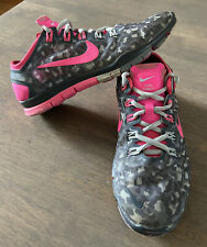 Nike Free TR Connect 2 Leopard Print Hyper Pink Gray Shoes Women Size 7