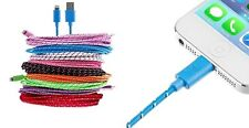 Lot of 50 Braided Lightning iPhone 5 6 7 USB Cables with UPC Code