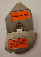 Thomas & Betts 11822 crimping die set for copper STA-KON terminal size E blue R4