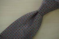 Canali 1934 Silver Label Geometric Web Baby Blue Square Glossy 100% Silk Tie
