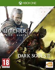 The Witcher III 3 Wild Hunt & Dark Souls III Xbox One * NEW SEALED PAL *