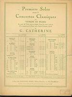 """R. Kreutzer : """" Concerto Nr. 19 """" für Violine und Klavier - alte Noten übergroß"""
