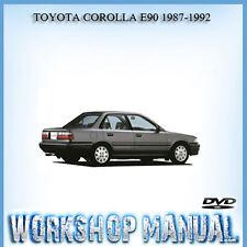 TOYOTA COROLLA E90 1987-1992 WORKSHOP REPAIR SERVICE MANUAL IN DISC