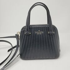Kate Spade Patterson Drive Quilted Mini Dome Black Leather Satchel NWT WKRU6289