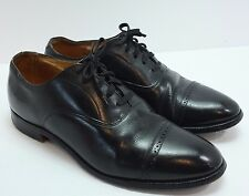 Brooks Brothers English Curzon Sz 8 40D Cap Toe Shoes Black Made in England