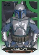 Star Wars Galactic Files Reborn Green Parallel Base Card AOTC-4 Jango Fett