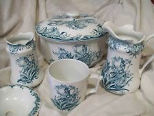 Antique 6 pc. Chamber set - Colonial Pottery - Albert pattern - Stoke England