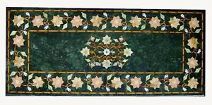 24 x 48 Inches Marble Coffee Table Top Inlay Work Luxurious Look Kitchen Table