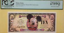2008A $10 Mickey Disney Dollar Graded By PCGS Superb Gem New 67PPQ, A00148756