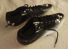Men's Under Armour Micro Foam Football Size 11 Black White Cleats Shoes