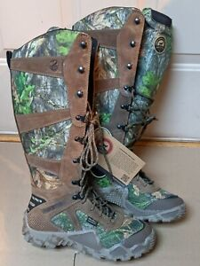 Womens 8 Snake Proof Boots Waterproof Camo Scent Ban Hunting Boots Irish Setter