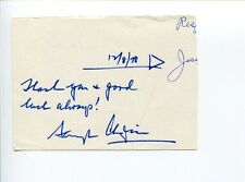 Schuyler Chapin NY Metropolitan MET Opera General Manager Signed Autograph