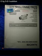 Sony Service Manual DCR TRV60 /TRV60E TRV70 Level 1 Digital Video (#5749)