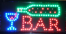 LED Bar Business Neon Light Sign Ultra Bright Flashing Shop Supply L