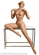 """SEXY SEATED FEMALE MANNEQUIN from Decter-Vintage """"Vargas Girl"""" Pin Up Style!"""