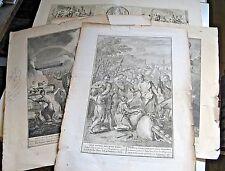 ENSEMBLE DE 5 GRAVURES 1700-1780 BIBLE CONSTANTIN ANGLETERRE Signé RUBENS HOET